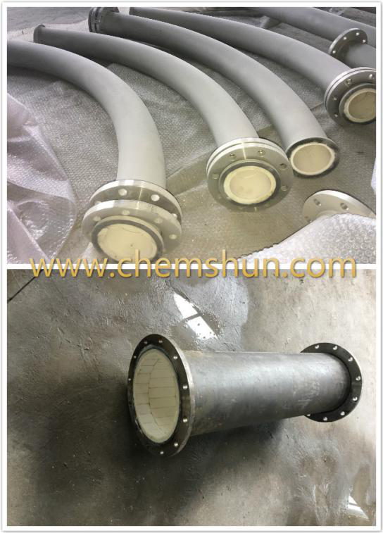Wear resistant ceramic lined steel pipe