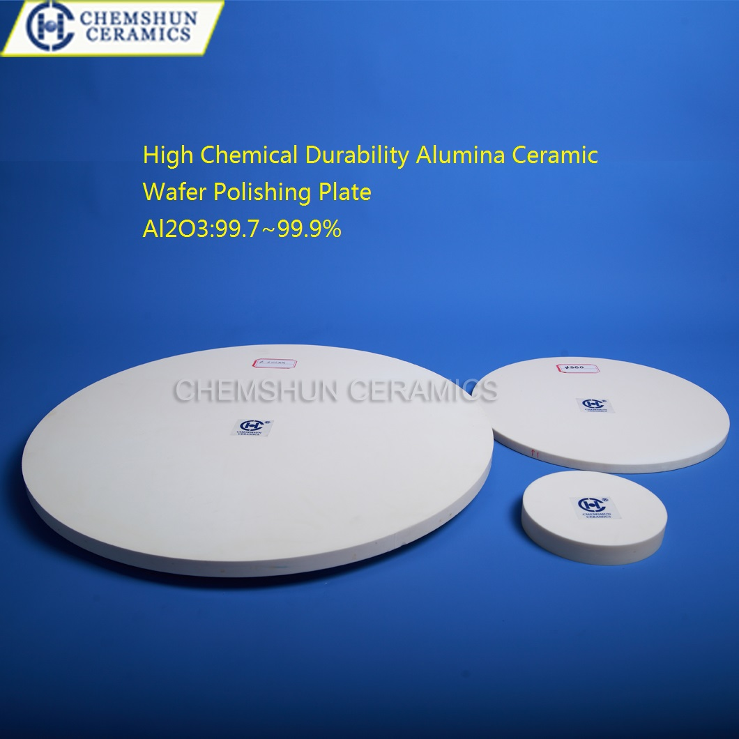 High Chemical Durability Alumina Ceramic Wafer Polishing Plate